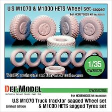 DEF Model 1:35 M1070/M1000HETS Sagged wheel set for Hobbyboss Limited #DW35020