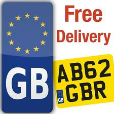 Motorcycle Motorbike GB Euro Sticker for number plate sticky vinyl europe legal