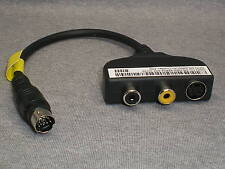 3x DELL INSPIRION-1420 S-VIDEO COMPOSITE AUDIO CABLE mini din 7pin m2010-1730
