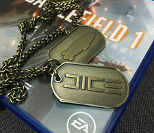 Hot Battlefield 1 Metal Charms Dog Tag Chain Pendant Necklace Collectible Gift