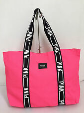 BNEW Authentic PINK By VICTORIA'S SECRET Large Canvas Tote Bag Pink FREE SHIP