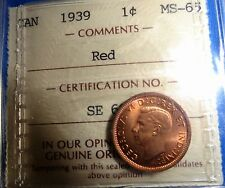 Canada 1 cent 1939 MS-65