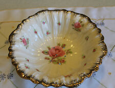 "Vintage  Crown Ducal Ware ""ROSES"" Vegetable Table Strainer Bowl"