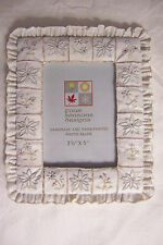 """Four Seasons Designs Handmade & Hand Painted Lacy Resin Photo Frame 3-1/2"""" x 5"""""""