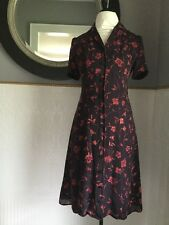 Spencer Jeremy Button Front Floral Silk Dress 6