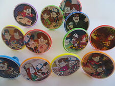 12 GRAVITY FALLS Rings CUPCAKE toppers - birthday party favor cake pinata toys