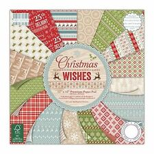 6x6 First Edition Christmas Wishes Paper Full Pack Cardmaking Scrapbooking