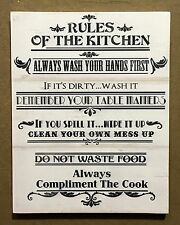 Rules of the Kitchen - Large Wooden Signs