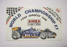 ADESIVO AUTO F1 / Old Sticker 1988 59° GRAN PREMIO D'ITALIA MONZA (cm 13x8) ANSA