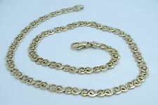 Gorgeous 14K Yellow Gold 18 Inch 6.5mm Modernist Swirl Link Chain Necklace B377
