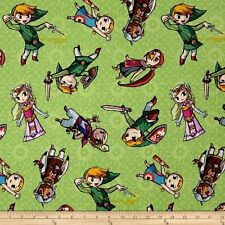Legend of Zelda ~ Zelda and Gang Cotton Fabric by the YARD