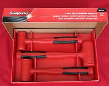 Snap On HBFE103 Dead Blow Hammers 3 Pcs. Soft Grip Set Brand New