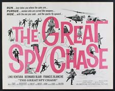 Les BARBOUZES GREAT SPY CHASE half sheet movie poster 22x28 VENTURA DARC BLIER