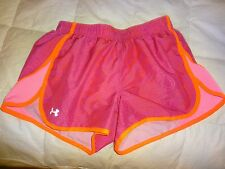 Womens Under Armour Running Shorts, lined, XS X-small, pink