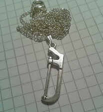 """TIBETAN SILVER PENDANT"""" TOOLS BAND SAW """" REVERSABLE"""" 18"""" or20""""NECKLACE CHAIN"""