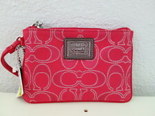 NWT COACH SIGNATURE LUREX SMALL WRISTLET 46131 RUBY