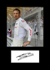 JENSON BUTTON #3 Signed Photo Print A5 Mounted Photo Print - FREE DELIVERY