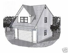 22x24 2 Car Carriage Garage Style A Building Blueprint Plans
