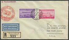 SIEGER #408 LZ129 HINDENBURG FLIGHT COVER EUROPE TO NORTH AMERICA BS2801