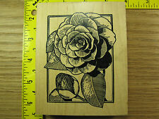 Rubber Stamp Gorgeous Rose Flower Framed Stampa Rosa Stampinsisters #1020