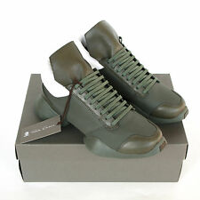 RICK OWENS x ADIDAS army earth green ro runner trainers sneakers shoes 7-us NEW