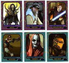 Topps Star Wars Galactic Files 2 - 6 Blue Parallel Cards Characters Obi-Wan