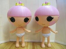 "LALALOOPSY Full Size 7"" Little Sister of Jewel Doll Trinket Nude Twins Pair lot"