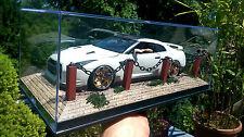 1:18 diorama acrílico vitrina the real diorama también para 1:24 coches de modelo