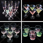 6x champagne wine cocktail clear plastic toasting glasses cups wedding party