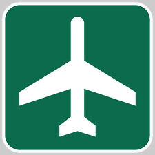 "Airport Ahead - 12""x12"" Metal Reflective Road Sign for Hangar Garage or Home"