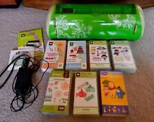Cricut Expression green floral design with 8 cartridges. Limited ed. FREE Ship!