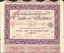DECO =  Etablissements CAIN & RHEIMS, textile (J)