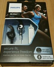 Black/White PHILIPS ACTIONFIT JETKIT EARPHONES IN EAR. Running/training/fitness