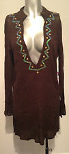 New Brown Cover Up Size 10 Beach Coverup Ladies Slip On Top Sequins Beachwear