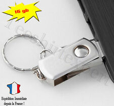 Clé USB 16 GO PORTE CLEFS SILVER PLIABLE - Mini Format usb flash drive 16gb