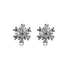 Fashion Jewelry - 18k White Gold Plated Snowflake Stud Earrings (FE342)