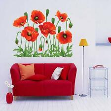 New DIY Home Family Decor Red Flower Removable Decal Room Vinyl Art Wall Sticker