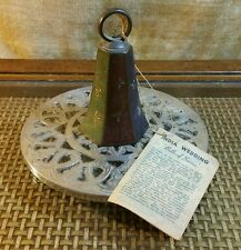 """Vintage Indian Wedding Bell """"Bells of Sarna"""" 1949 with Plate"""