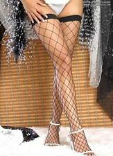 LADYS WOMANS SEXY BLACK LARGE FISHNET STOCKINGS GOTH KINKY HOLD-UPS CROSSDRESSER