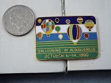 HOT AIR BALLOON PIN BALLOONING IN ALBUQUERQUE OCT. 6-14, 1990