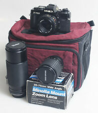 MINOLTA X700 STUDENT KIT WITH 3 LENSES AND BAG