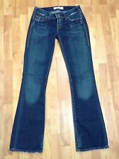 "1921 Western Glove Works Jeans Bootcut 28 x 33"" Distressed Dark Stretch"