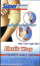 ELASTIC SUPER BAND SUPPORT WRAP WRIST ANKLE ELBOW No Clips Needed SUPER BAND