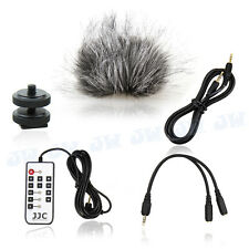 Remote control windscreen Windshield mount adapter cables for Zoom H4N Recorder