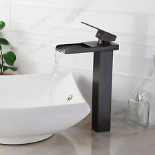 Bathroom Sink Faucet Vessel Waterfall Oil Rubbed Bronze One Hole/Handle