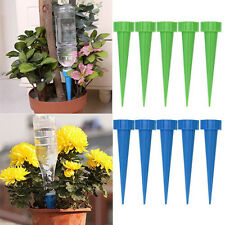 12X Automatic Cone Watering Spike Garden Flower Plant Waterers Bottle Irrigation