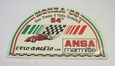 ADESIVO AUTO F1 anni '80 / Old Sticker 54° GP ITALIA MONZA 1983 (cm 12 x7) ansa