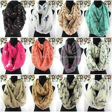 US SELLER-10pcs Cheap equestrian horses equine animal double loop infinity scarf