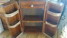 Vintage Sewing Primitive Handcrafted Sewing Cabinet Stand Rare Wooden Lovely