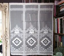 "Scottish cotton lace heritage curtain lace panel - Victorian lace Mill 34""x34"""